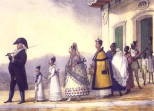 """Aquarela de Jean-Baptiste Debret, """"Viagem pitoresca e histórica ao Brasil""""."""