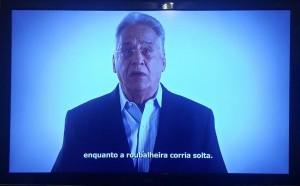 FHC em propaganda política tucana anti-PT, veiculada em 2015. Foto: Reprodução de TV/Fotos Publicas