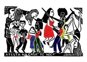 Xilogravura de J. Borges - Festa de Noca.