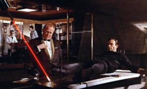 """Cena de """"007 contra Goldfinger"""", de 1964."""